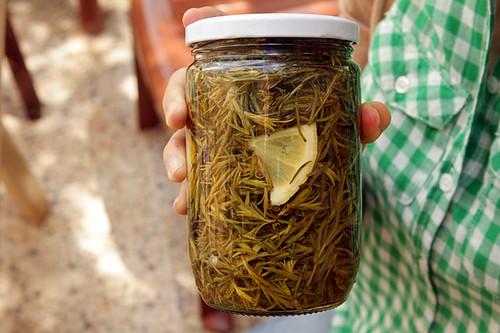 pickled za'atar