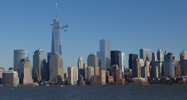 Blue Angels Flyby One World Trade