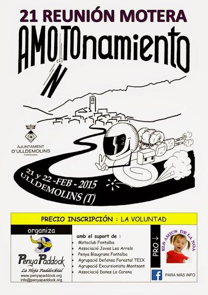 21 Reunión Motera AMONTOnamiento 2015 - Ulldemolins (Tarragona)