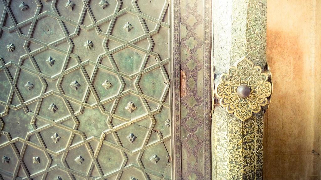 Brass Inlay Work on a Door of the Bibi Ka Maqbara