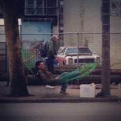 Taking a break on the DTES. #skills