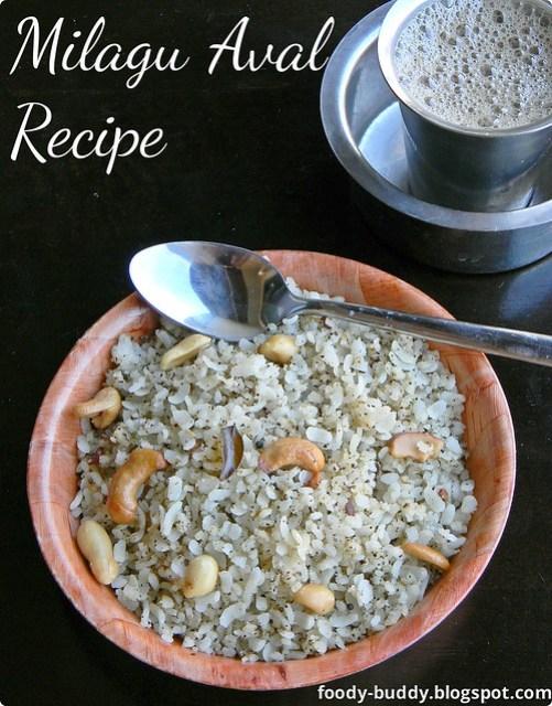 milagu aval recipe