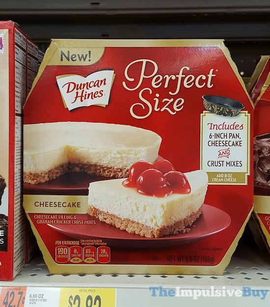 Duncan Hines Perfect Size Cheesecake