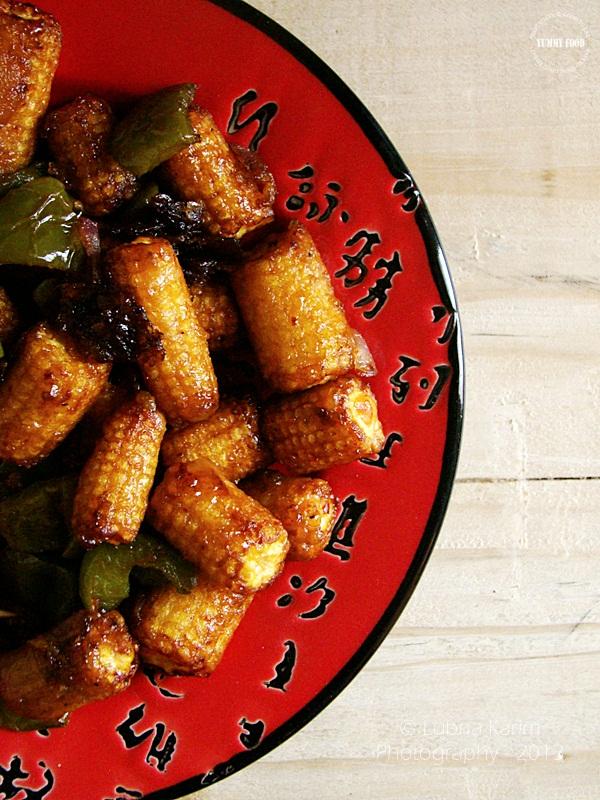 Baby corn - Capsicum Stir Fry