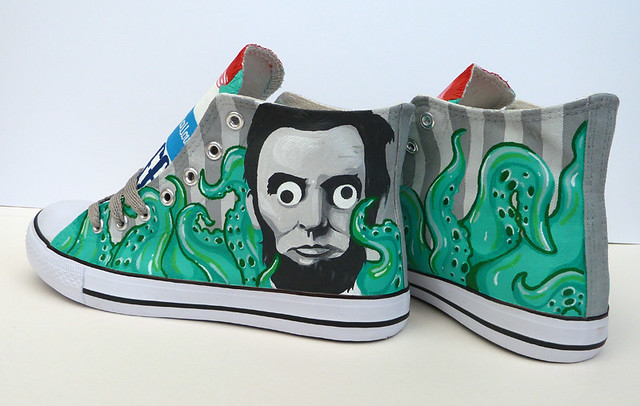 Fluff, Tentacles, and Lincoln With Googly Eyes Custom Sneakers by PonyChops