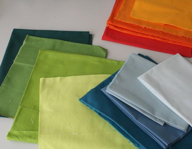 Improv Quilt - Fabrics