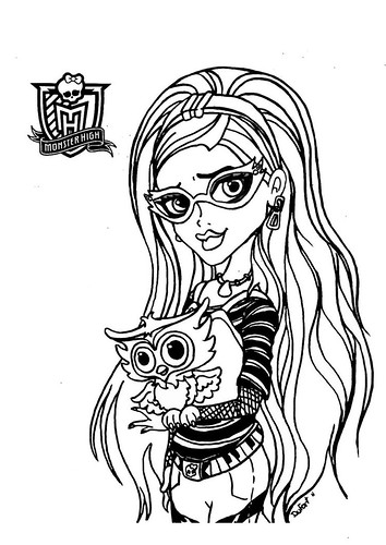 Dibujos de Monster High para Colorear