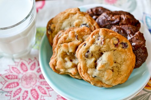 White Chocolate Cranberry Cookies-9