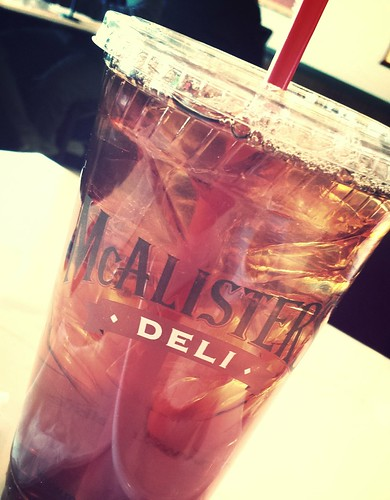 Tea from McAlister Deli