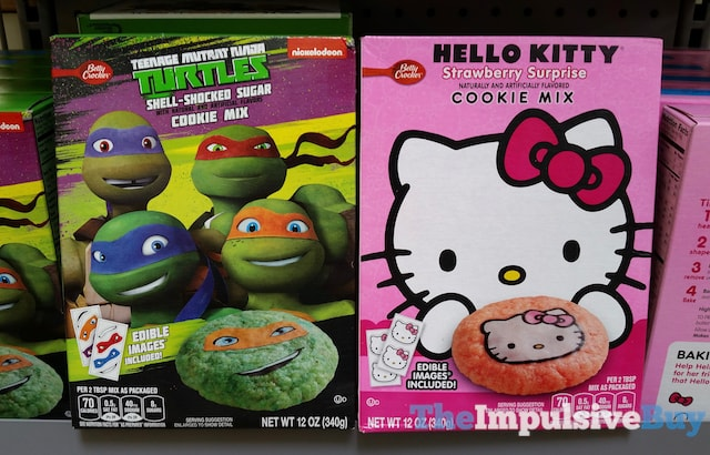 Betty Crocker Teenage Mutant Ninja Turtles Shell-Shocked Sugar Cookie Mix and Hello Kitty Strawberry Surprise Cookie Mix