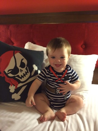 James was on-theme in our pirate room