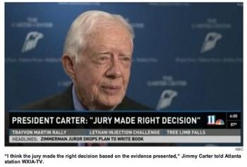 Jimmy Carter George Zimmerman Verdict