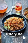 Tom Yum Fried Rice with Vegetables and Shrimp