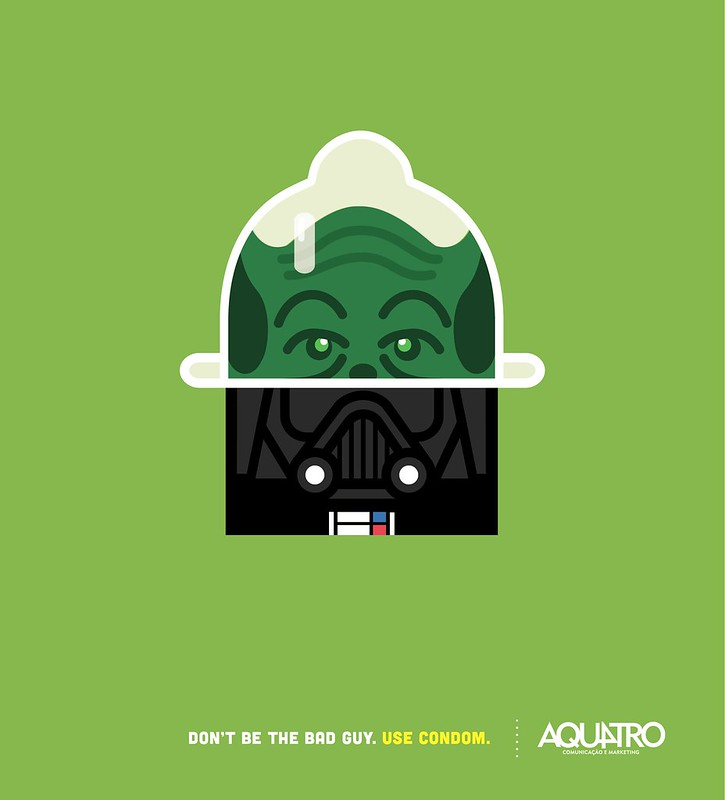 Aquatro Condoms - Yoda vs Darth Vador