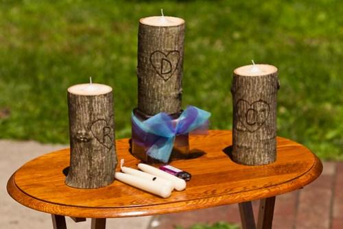 DIY unity candles