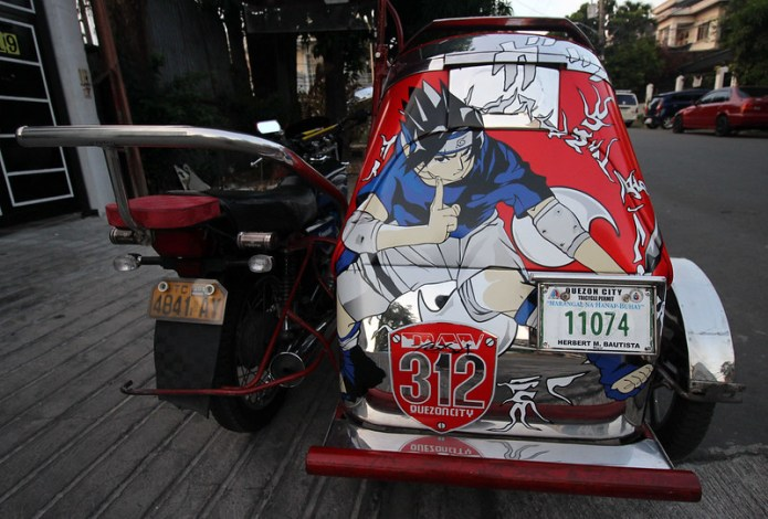 tricycle with an anime character 1