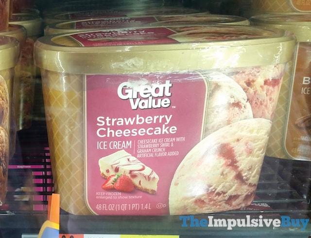 Great Value Strawberry Cheesecake ice Cream