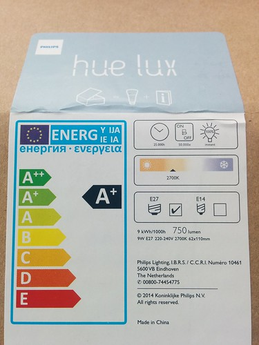 Philips Hue Lux lights Europe packaging