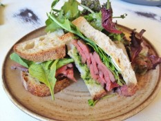 Roast beef sandwich at Farmer's Apprentice