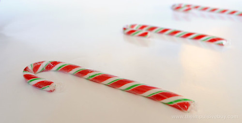 J&D's Foods Sriracha Candy Canes Closeup 1