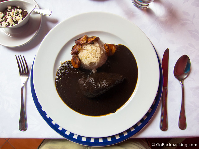 Black Mole with Chicken at Catedral Restaurante