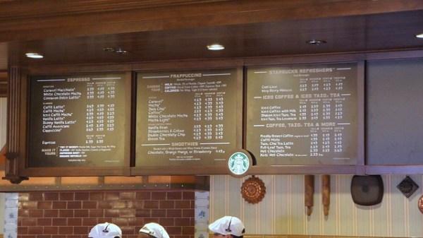 Starbucks in the Main Street Bakery at Walt Disney World