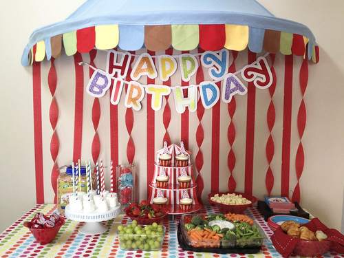 Circus Birthday Party Table