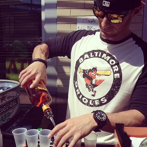 Opening day is better when your friend is the one pouring the Fireball. @rfiora7 #latergram