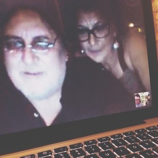 begins with G: Greetings from Gerhard (my dad) & my mom. <3 we celebrated #NYE via skype since they are staying in indonisia right now for scuba diving. #FMSphotoaday #photooftheday #photoadayjan @fatmumslim #ilgesasa #family #hello2014