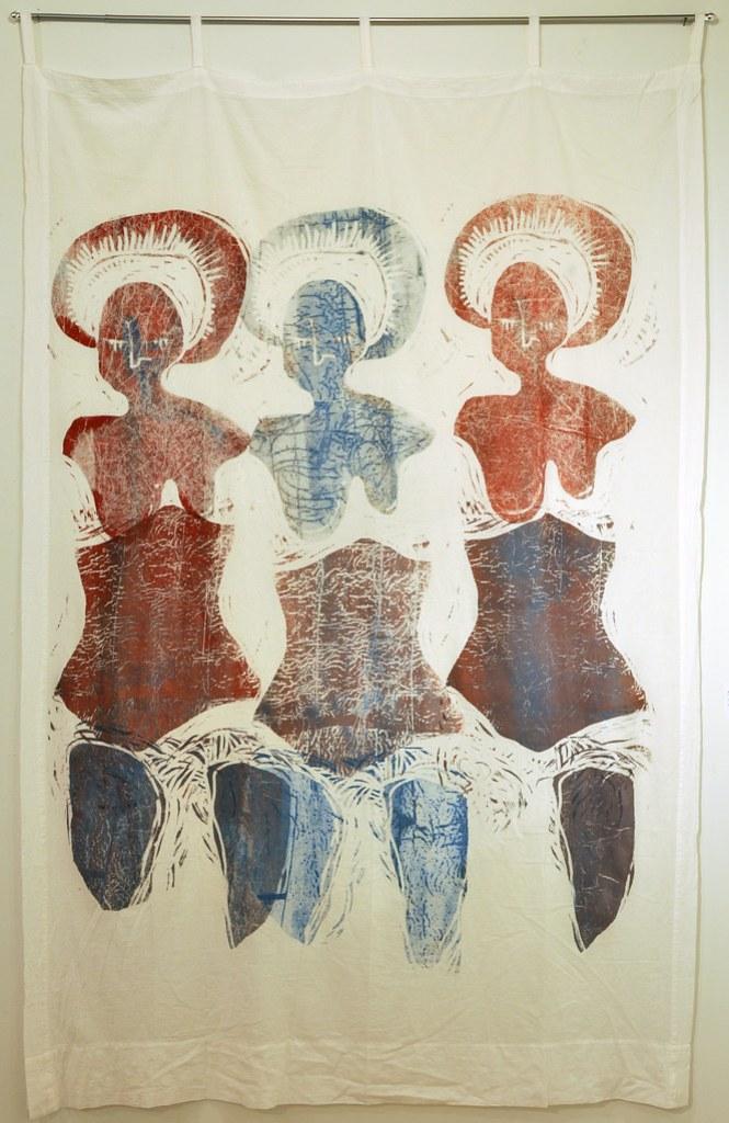 Three Marys Curtain - Woodie Anderson