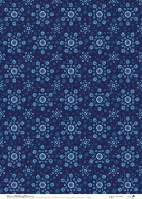 WRAPING PAPER BLUE