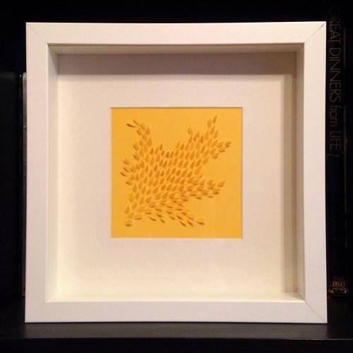 Framed paper cut commission