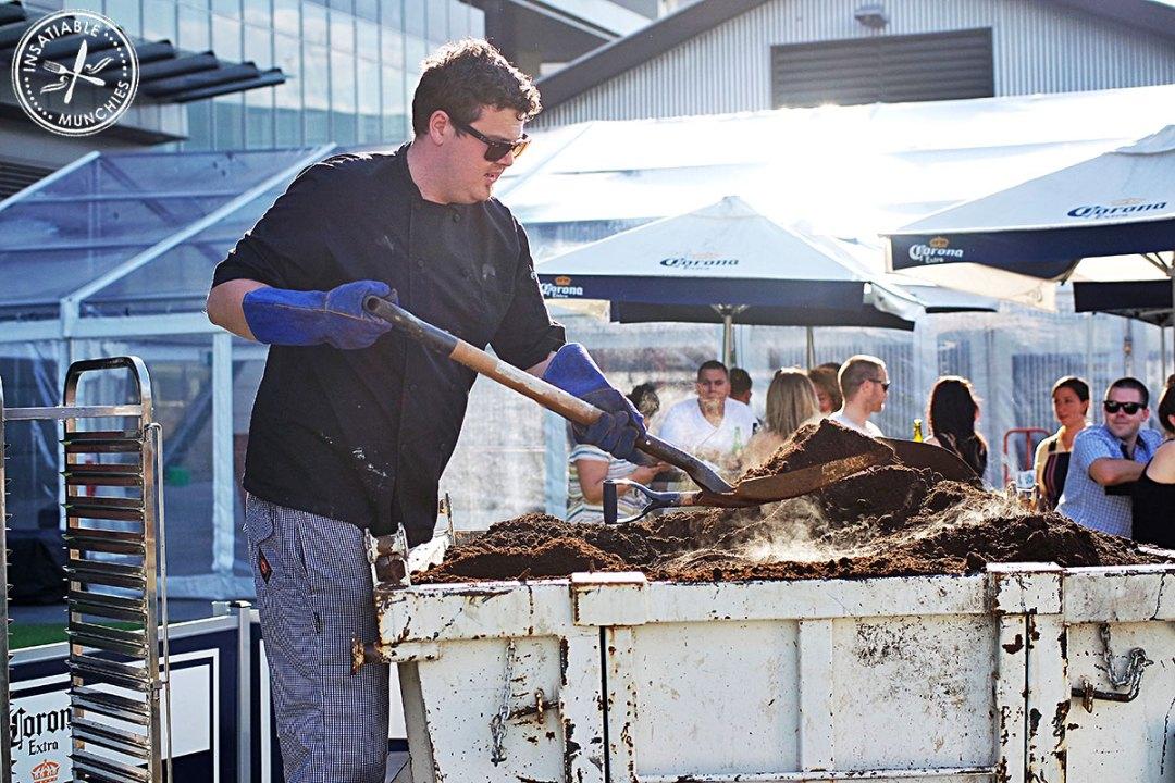 Chef Tony Moss Unveiling the Hangi