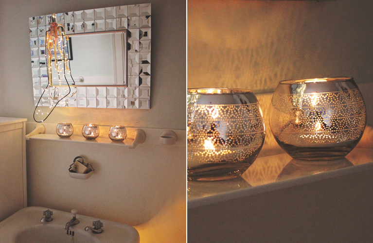 DIY Christmas Decor - Thrifty Finds for Decorating your bathroom | Alex Inspired