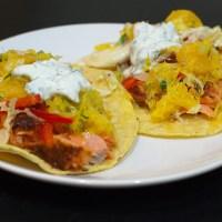 Salmon Tacos and Citrus Salsa