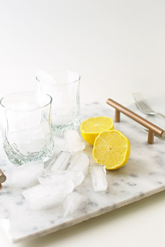 DIY marble serving tray