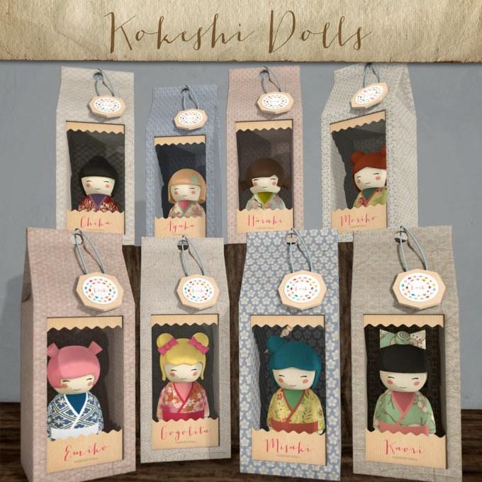 Lark - Kokeshi Dolls