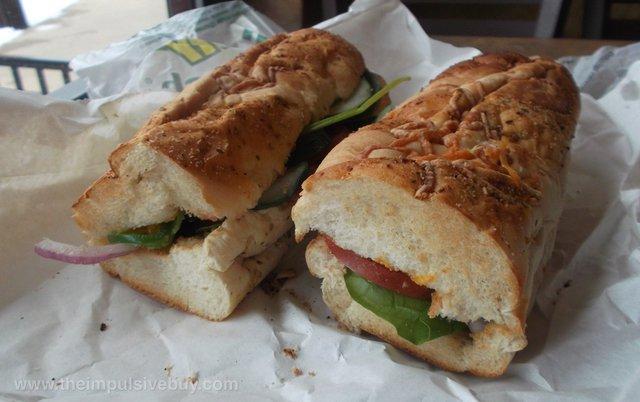 Subway Monterey Chicken Melt comparison