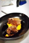 Slow Cooked Alpaca Shoulder with Cumin and Carrot Puree, Served with Malbec Jus