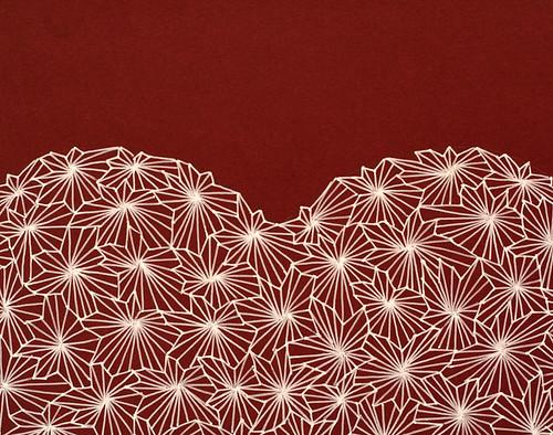 Gel pen Valentine heart - detail