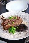 8 hr bbq beef flank with caramelised nori, mushroom preserve and sauce bordelaise