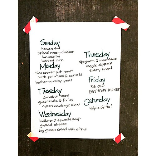Prediction: This week will overflow with loving words. #mealplan