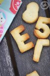 Cheat's Alphabet Cookies made with leftover pastry