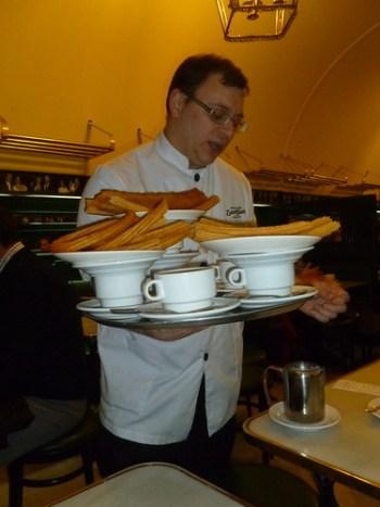 Churrus and Hot Chocolate, St. Gines, Madrid