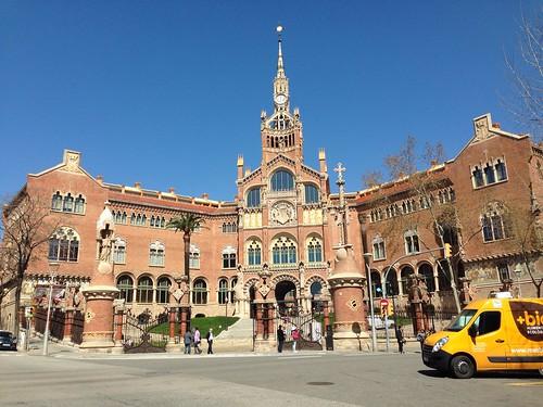 Gaudi designed hospital in Barcelona
