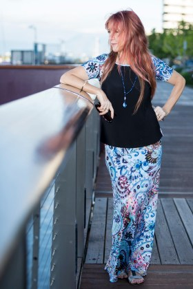 Lady Bird Top with Short Raglan Sleeves and Long Skirt | Dream Paisley