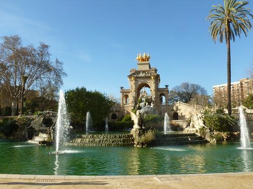 Ciutadella Park Barcelona Fountain