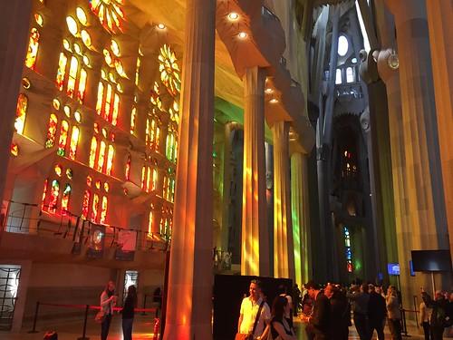 Inside Sagrada Familie March 2015