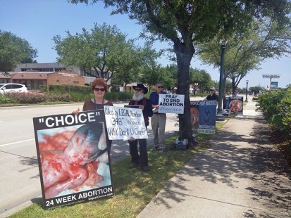 ACP Houston, TX is hard at it exposing the horrible truth of abortion.