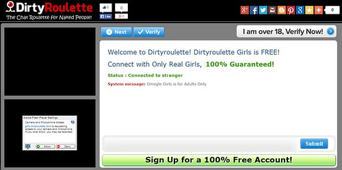 Dirtyroulette: Chat Nudista Exclusivamente para Adultos